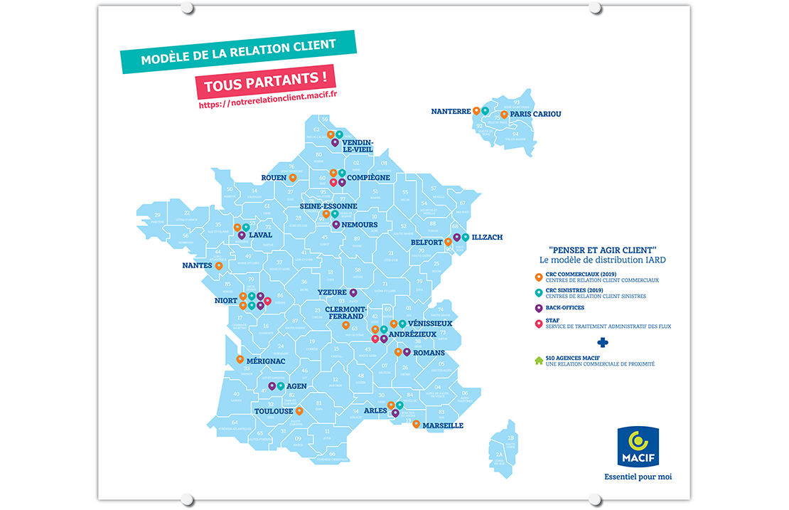 Carte des Macif en France'