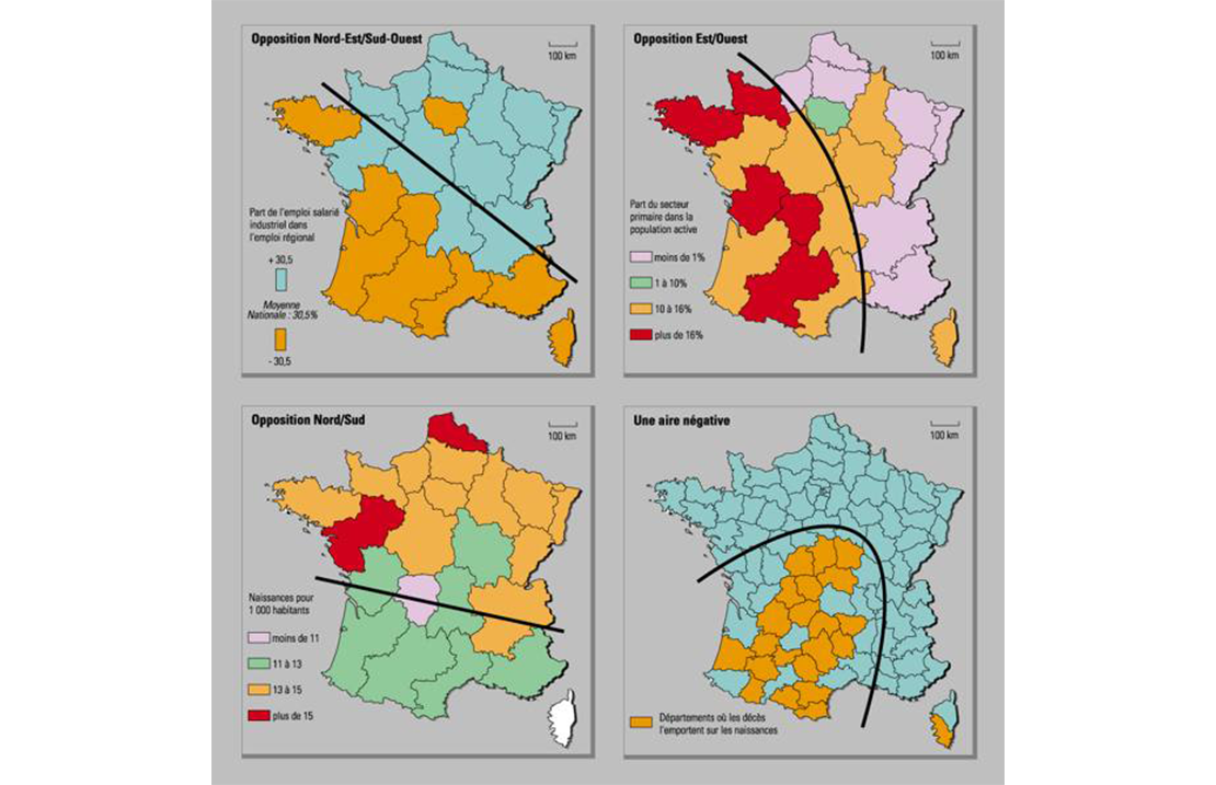 Carte de la France - Statistique